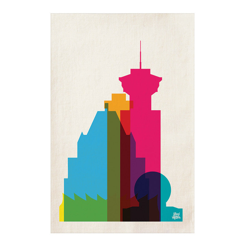 Tea Towel, City Shapes - Vancouver