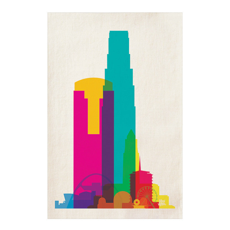 Tea Towel, City Shapes - Los Angeles  | Teroforma