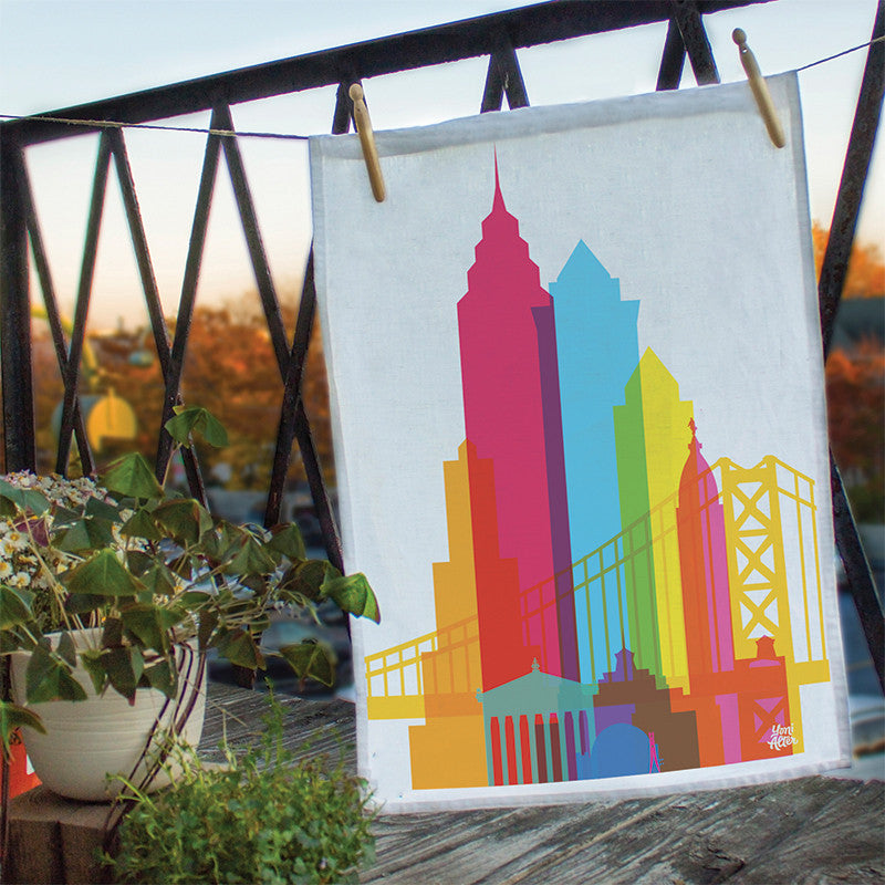 Tea Towel, City Shapes - Philadelphia
