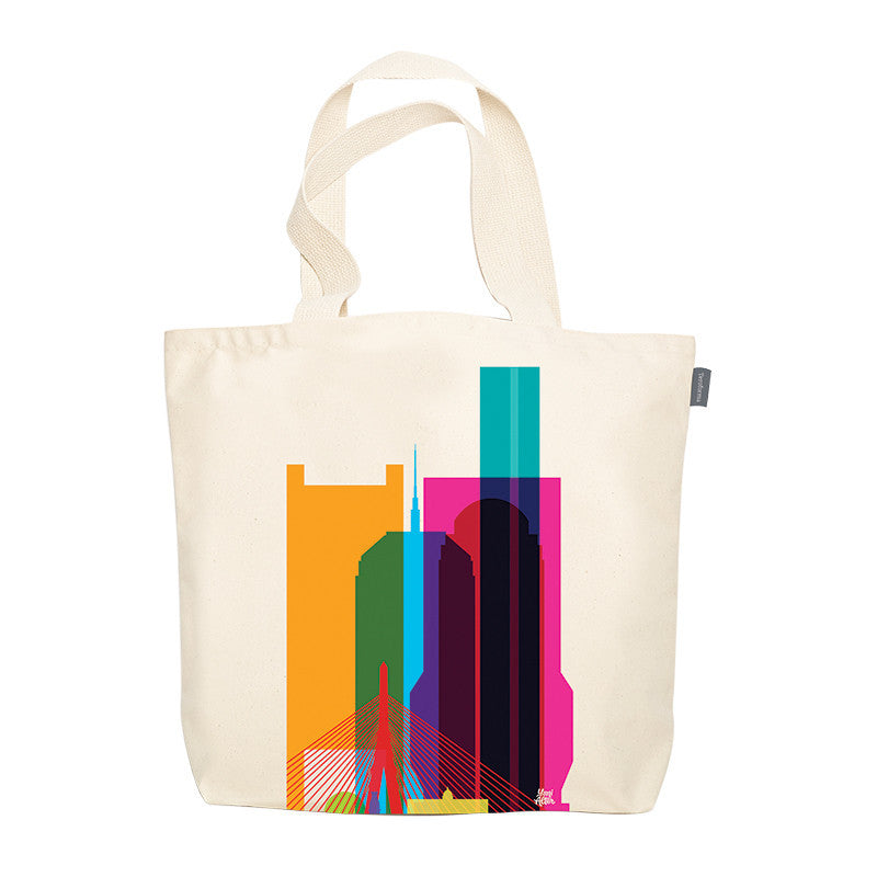 Tote Bag, City Shapes - Boston