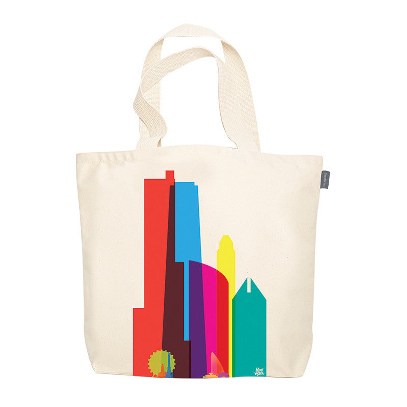 Tote Bag, City Shapes - Chicago