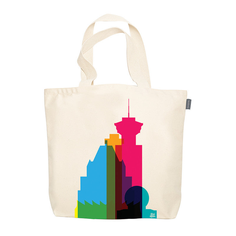Tote Bag, City Shapes - Vancouver
