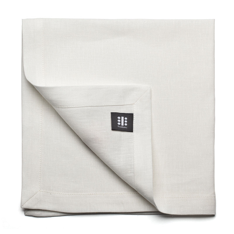 Pure Linen Large Napkin - Soft White