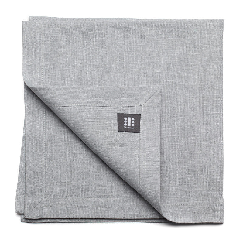 Pure Linen Large Napkin - Cloud Gray