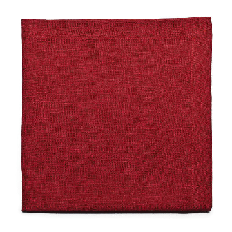 Pure Linen Large Napkin - Pure Red