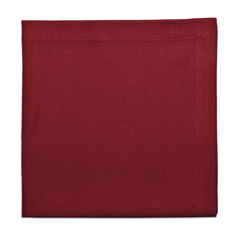 Pure Linen Large Napkin - Berry Red