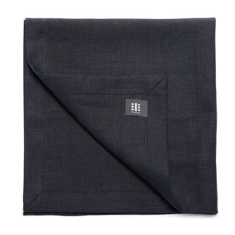 Pure Linen Large Napkin - Midnight Blue