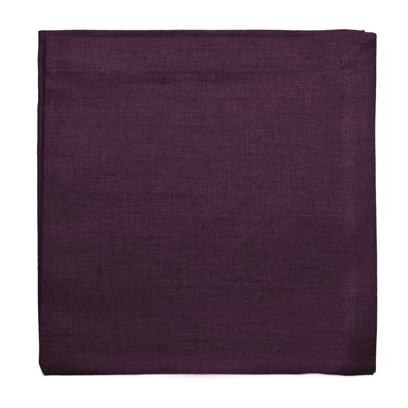Pure Linen Large Napkin - Rich Purple
