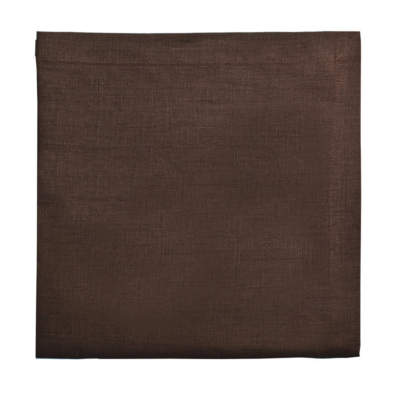 Pure Linen Large Napkin - Deep Brown