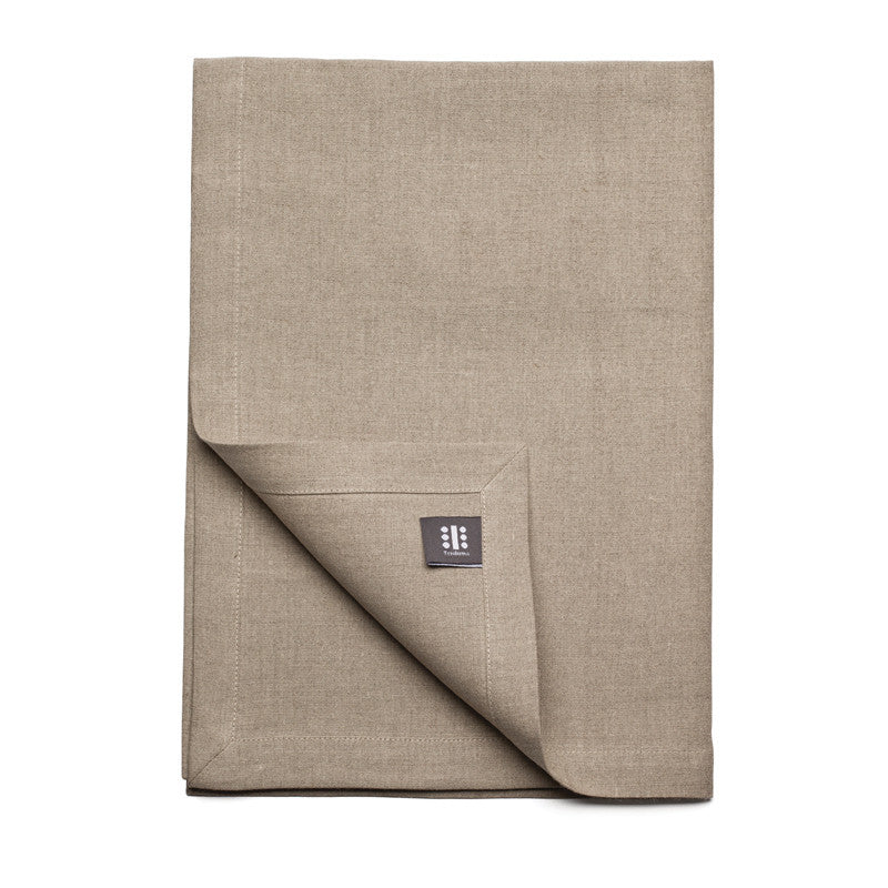 Pure Linen Cross Runner - Flax | Teroforma