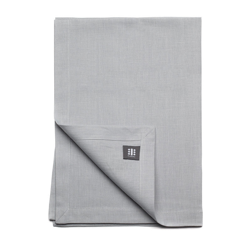 Pure Linen Cross Runner - Cloud Gray | Teroforma