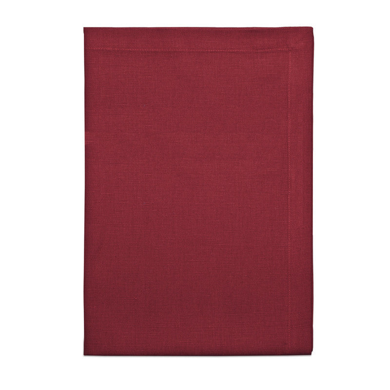 Pure Linen Cross Runner - Berry Red | Teroforma