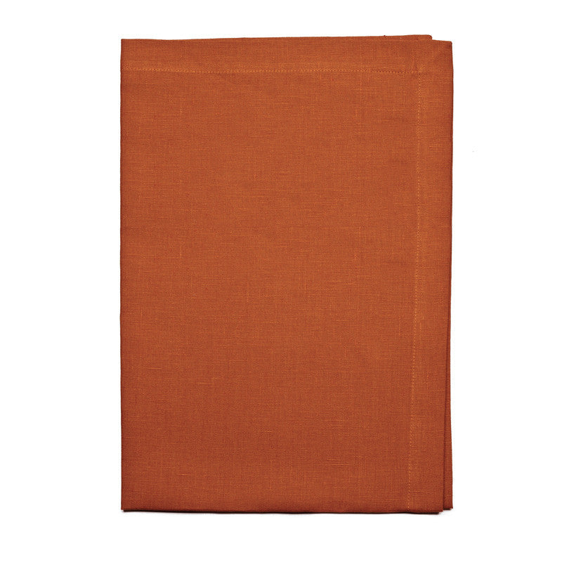 Pure Linen Cross Runner - Country Orange | Teroforma
