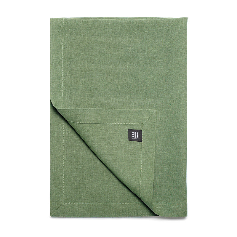 Pure Linen Cross Runner - Meadow Green  | Teroforma