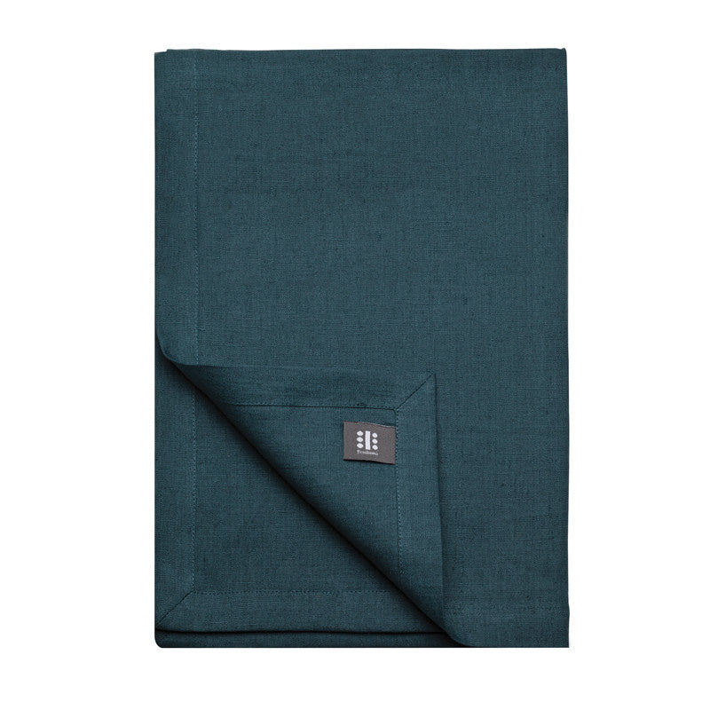 Pure Linen Cross Runner - Ink Blue | Teroforma