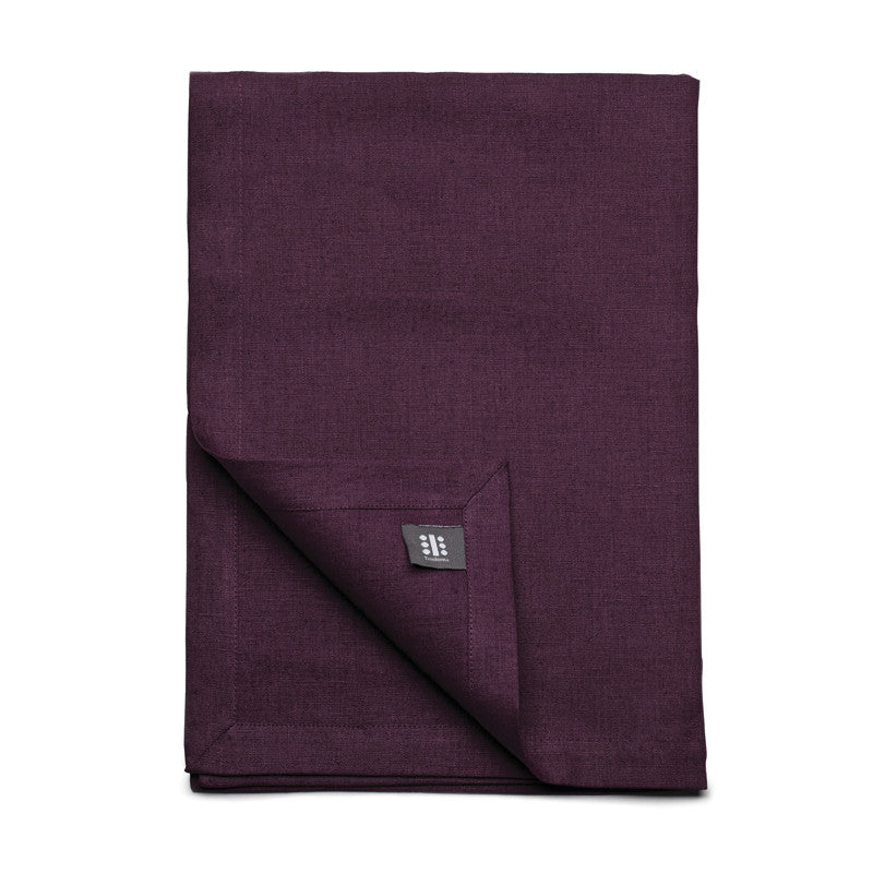 Pure Linen Cross Runner - Rich Purple | Teroforma