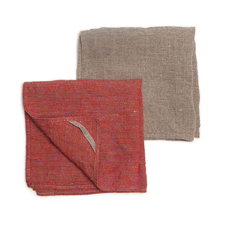 Neat&Clean Kitchen Cloths - Pure Red & Flax