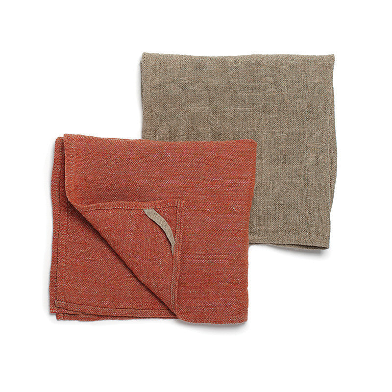 Neat&Clean Kitchen Cloths - Paprika Red & Flax
