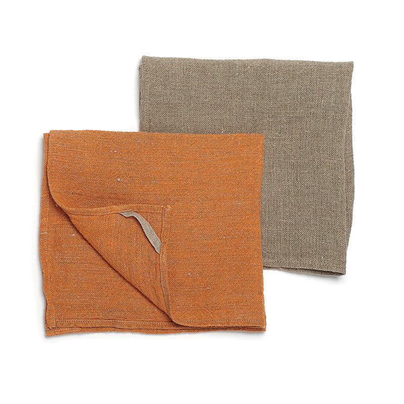 Neat&Clean Kitchen Cloths - Pumpkin Orange & Flax
