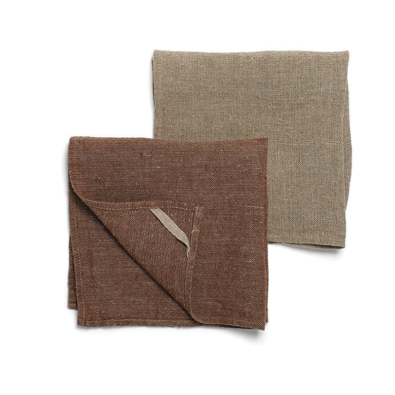 Neat&Clean Kitchen Cloths - Cocoa Brown & Flax
