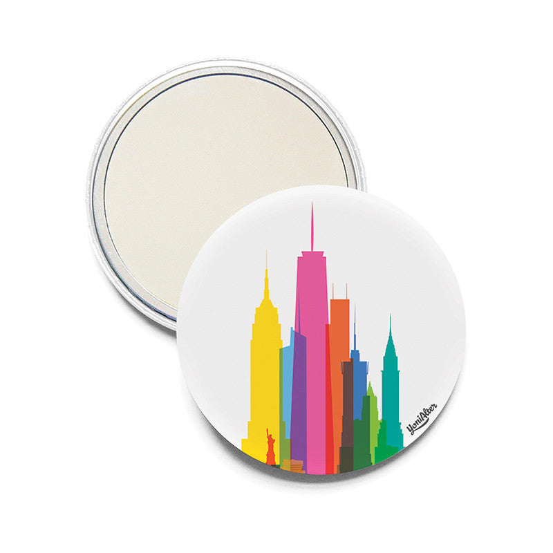 Pocket Mirror, City Shapes - New York City
