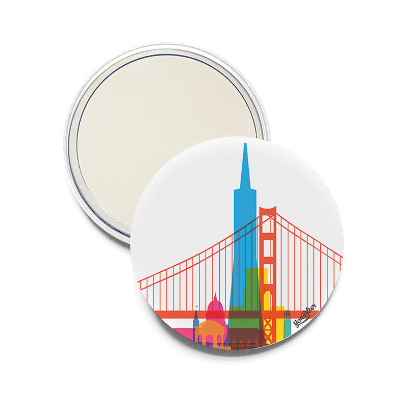 Pocket Mirror, City Shapes - San Francisco  | Teroforma