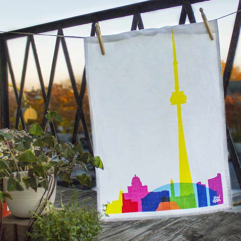 Tea Towel, City Shapes - Toronto  | Teroforma