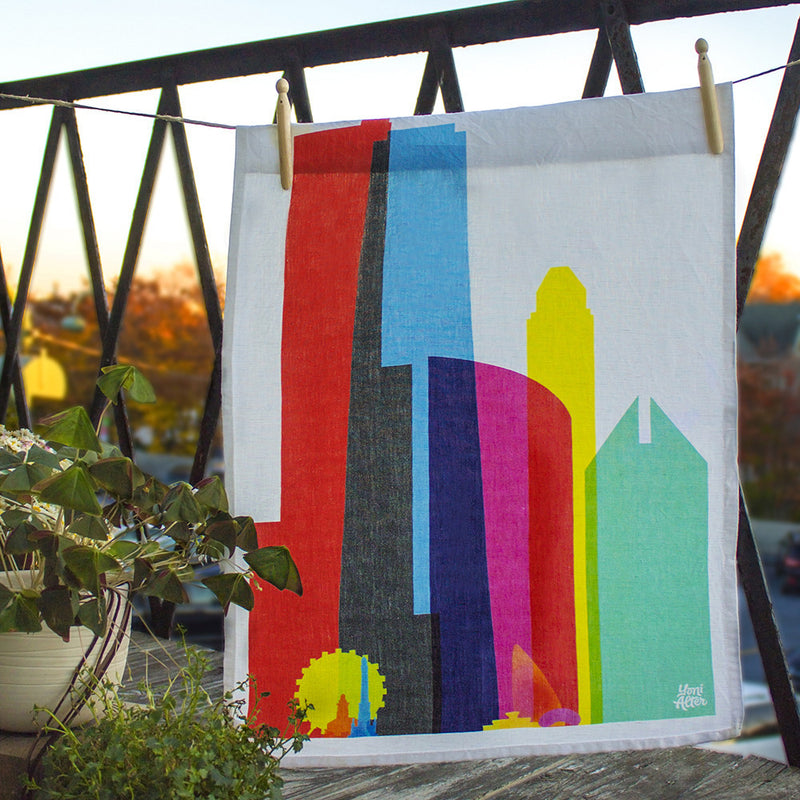 Tea Towel, City Shapes - Chicago  | Teroforma