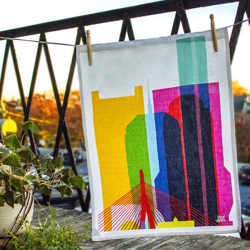 Tea Towel, City Shapes - Boston
