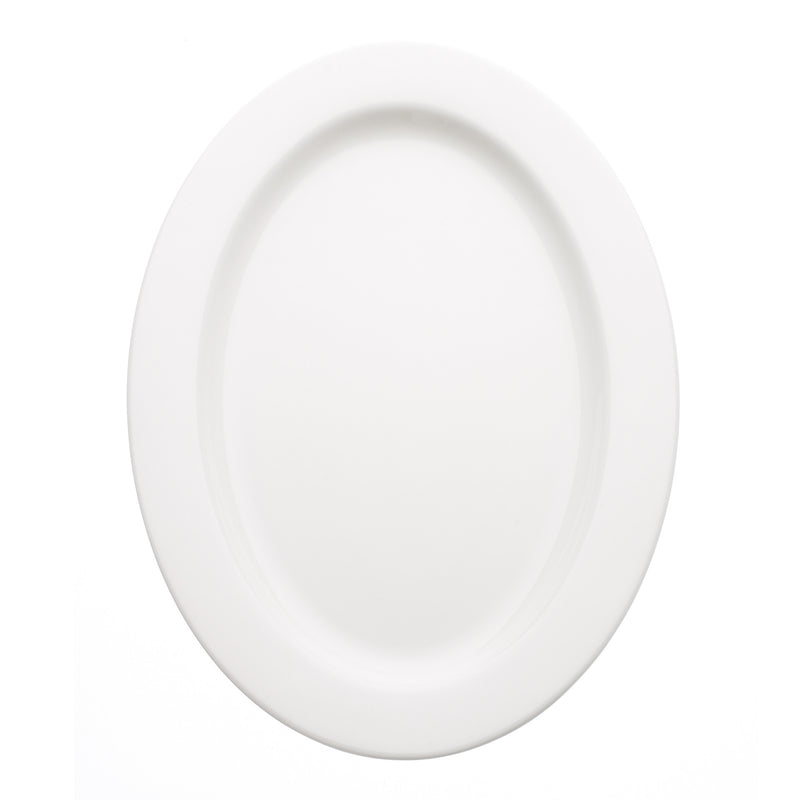 Avva White Large Serving Plate | Teroforma