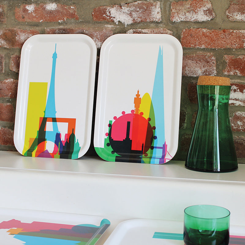 Cocktail Trays (Small), City Shapes