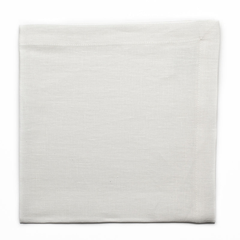 Small Napkin - Plain Stitch - Soft White