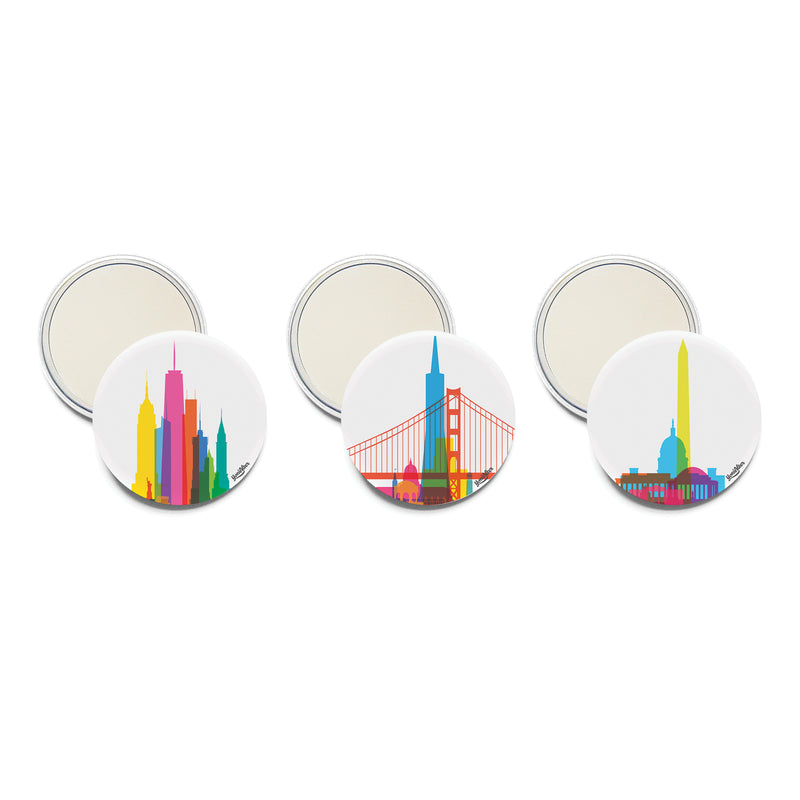 Pocket Mirror, City Shapes | Teroforma