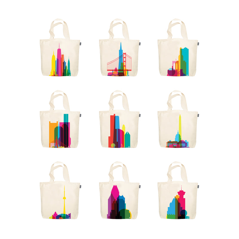 Tote Bags, City Shapes