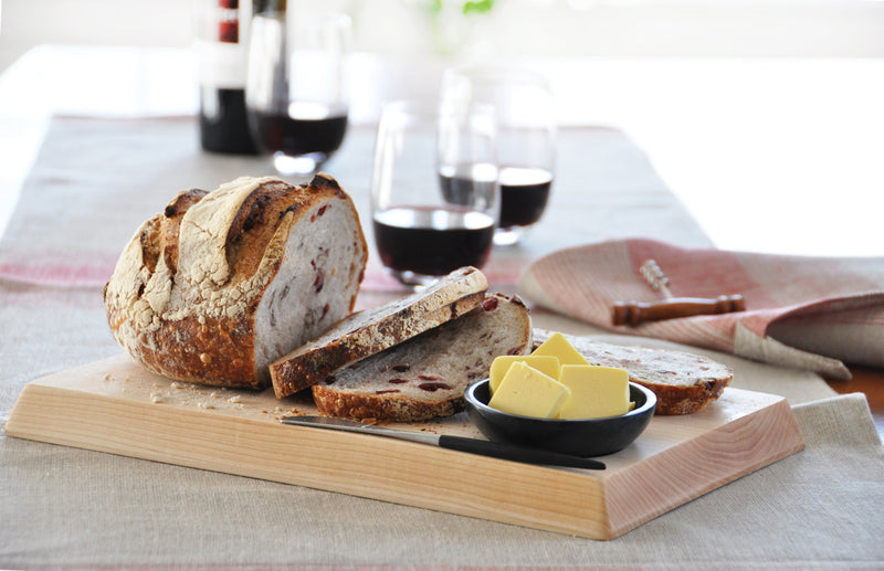 Bread & Butter Board In  Use  |  Boule-size | Teroforma