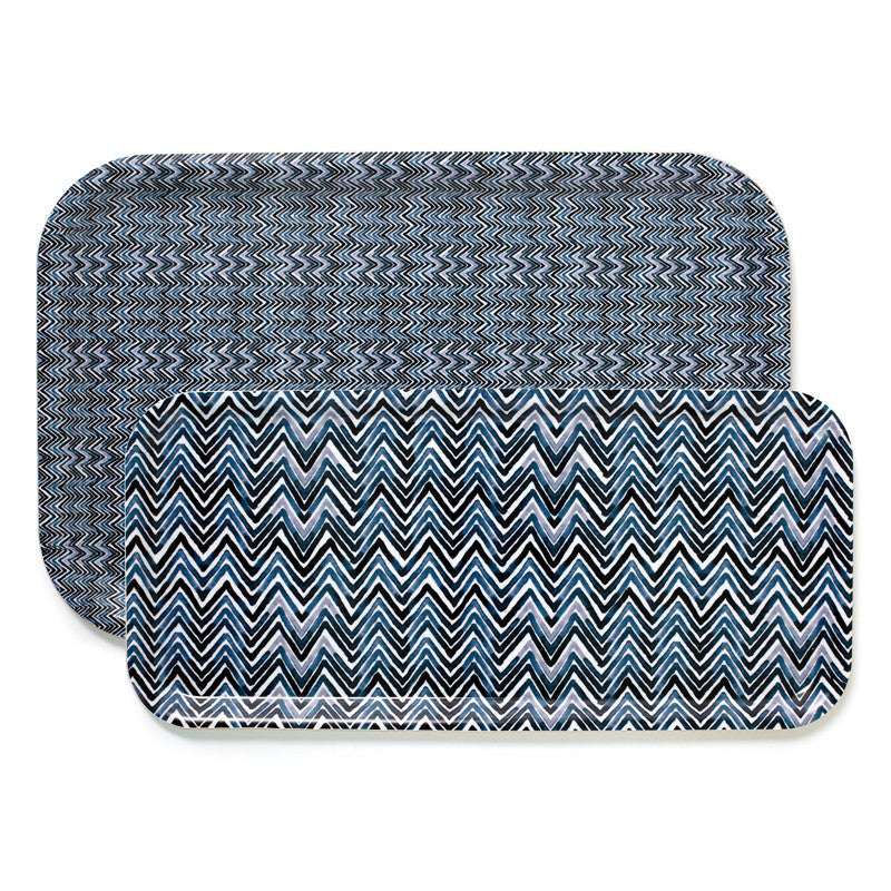 Chevron Trays Blue | Teroforma