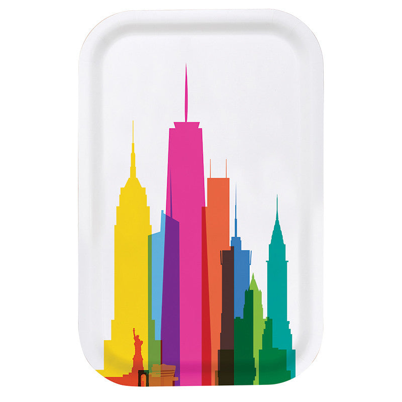 Cocktail Tray (Small), City Shapes - New York City