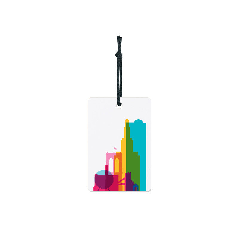 Luggage Tag, City Shapes - Brooklyn