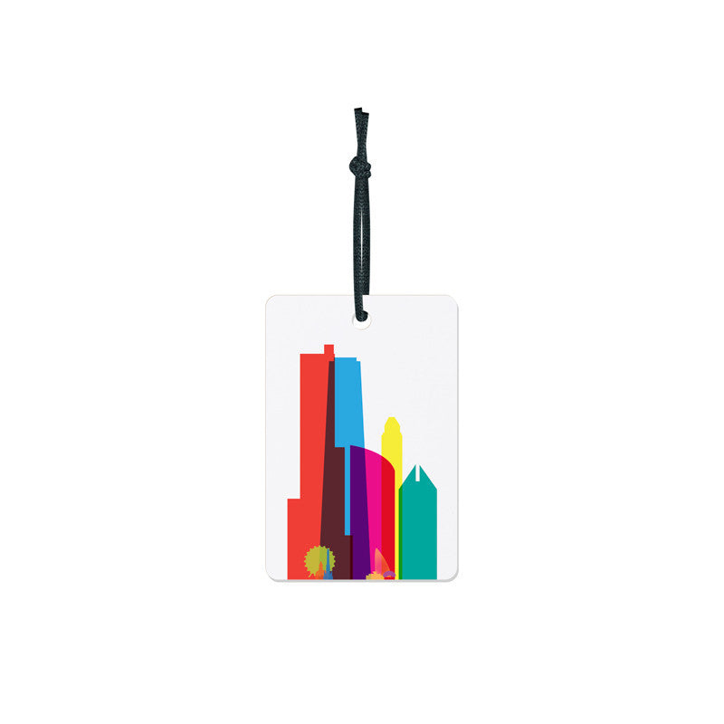Luggage Tag, City Shapes - Chicago
