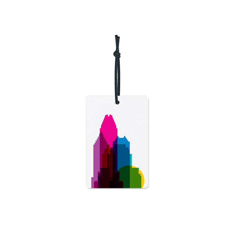 Luggage Tag, City Shapes - Montreal