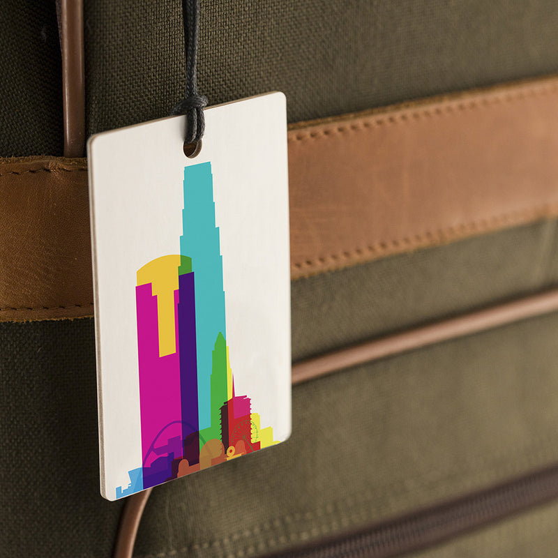 Luggage Tag, City Shapes - Los Angeles