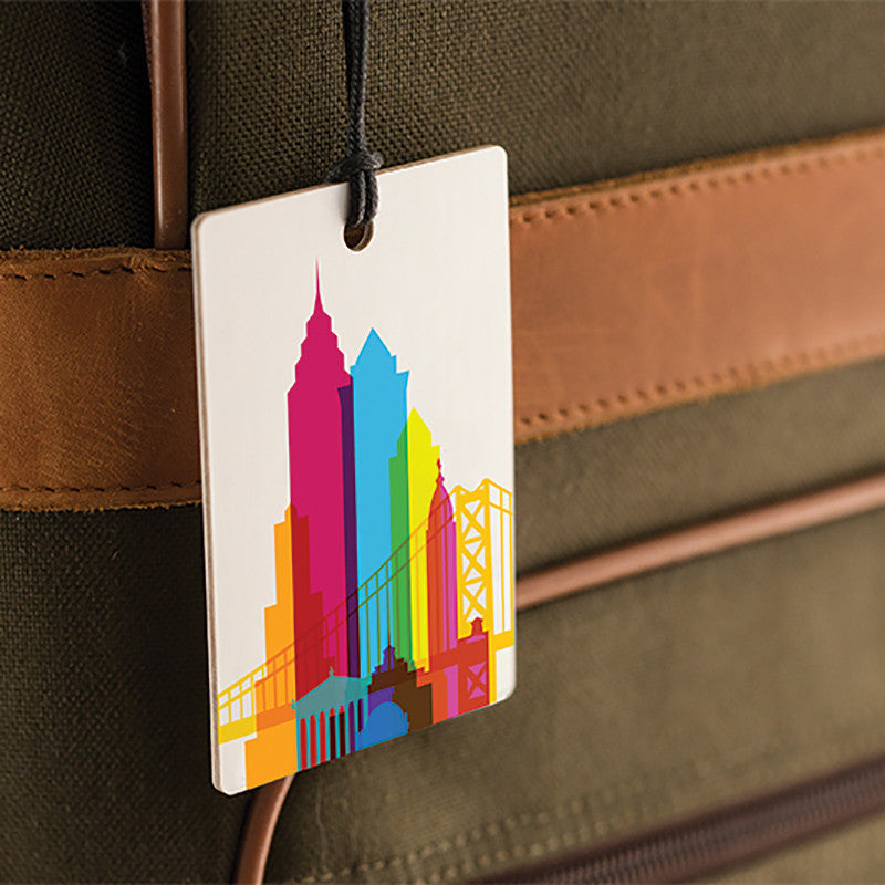 Luggage Tag, City Shapes - Philadelphia
