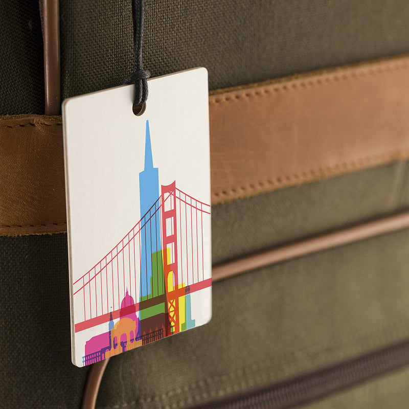 Luggage Tag, City Shapes - San Francisco