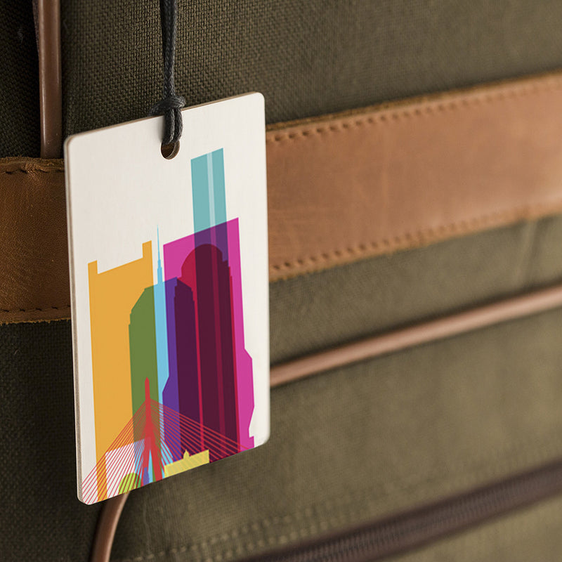 Luggage Tag, City Shapes - Boston