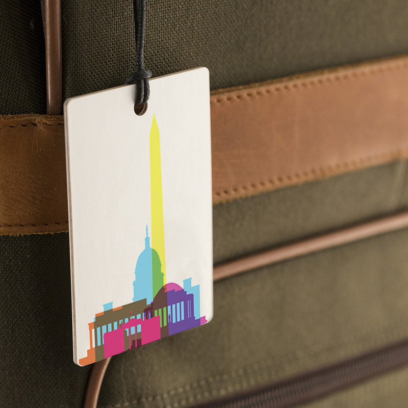 Luggage Tag, City Shapes - Washington DC