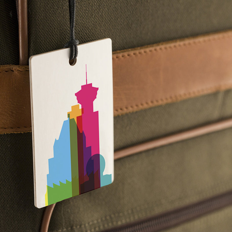 Luggage Tag, City Shapes - Vancouver