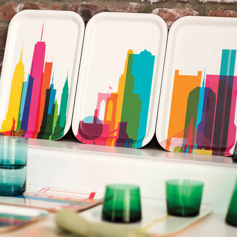 Cocktail Tray (Small), City Shapes