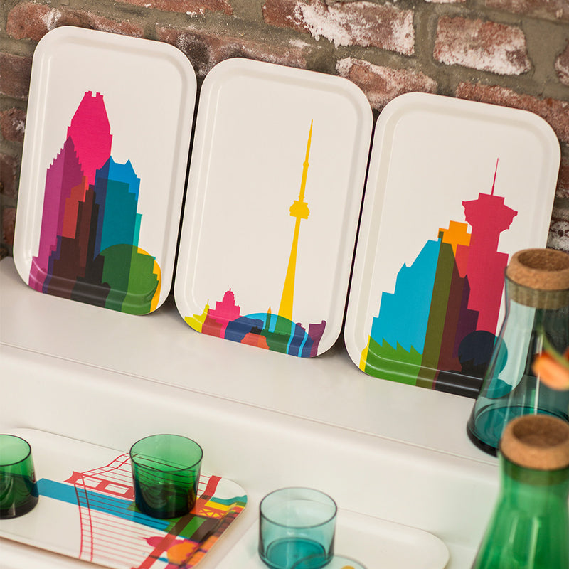Cocktail Tray (Small), City Shapes - Montreal