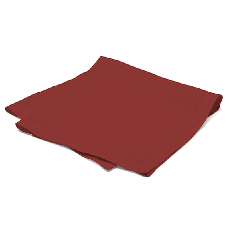 Pure Large Napkin with Button Stitch - Pure Red
