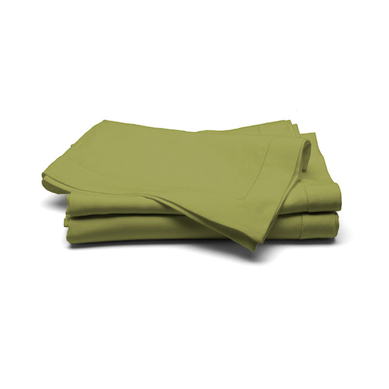 Large Linen Tablecloth  (Button Stitch) - Green